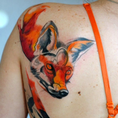Татуировка лиса для девушек