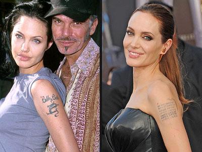 Тату Анджелины Джоли