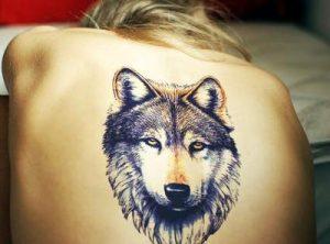 Тату волк у девушек